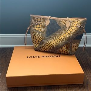 YAYOI KUSAMA LOUIS VUITTON YELLOW NEVERFULL MM
